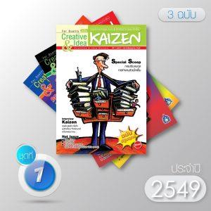 Creative & Idea Kaizen Magazine ปี 2549 (3 ฉบับ)